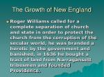the growth of new england15