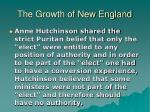 the growth of new england17