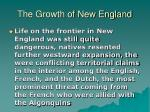 the growth of new england22