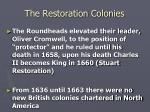 the restoration colonies2