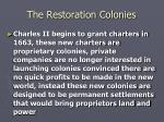 the restoration colonies3
