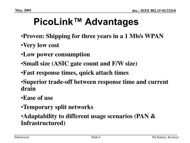 PicoLink™ Advantages