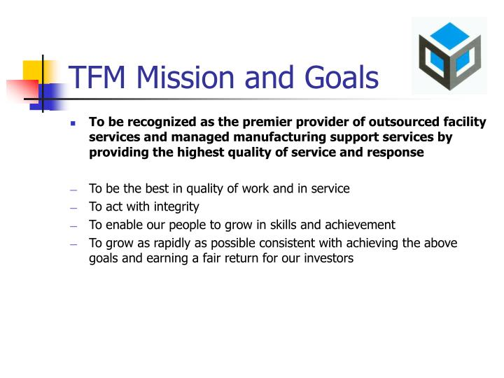 tfm mission and goals n.