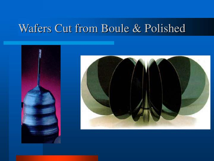 Wafers Cut from Boule & Polished