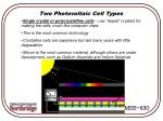 two photovoltaic cell types