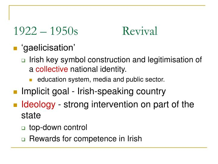 1922 – 1950s Revival