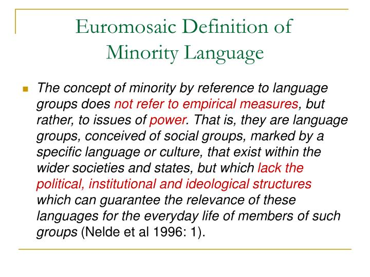 Euromosaic Definition of