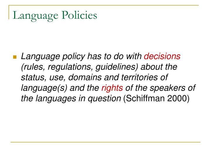 Language Policies