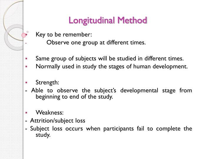 Longitudinal Method