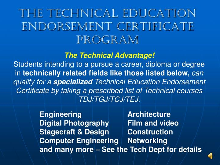The Technical Education