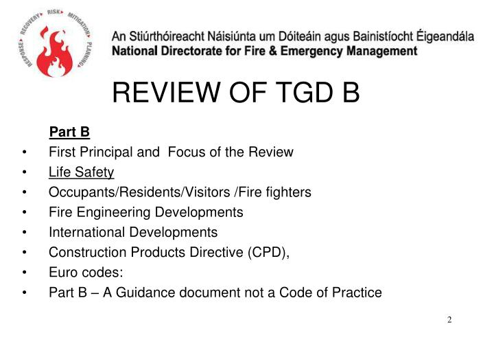 Review of tgd b1