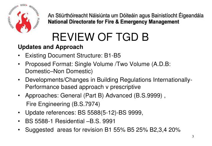 Review of tgd b2