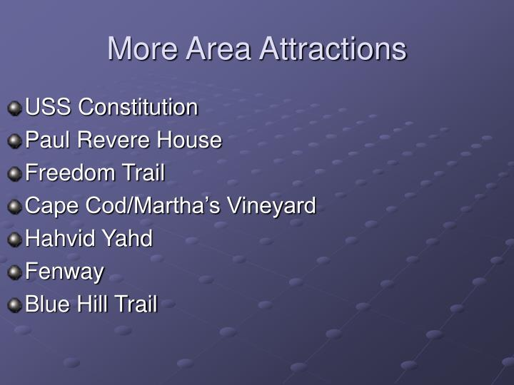 More Area Attractions