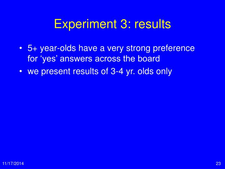 Experiment 3: results