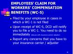 employees claim for workers compensation benefits wc 5