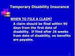 temporary disability insurance8