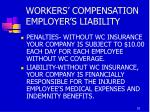 workers compensation employer s liability