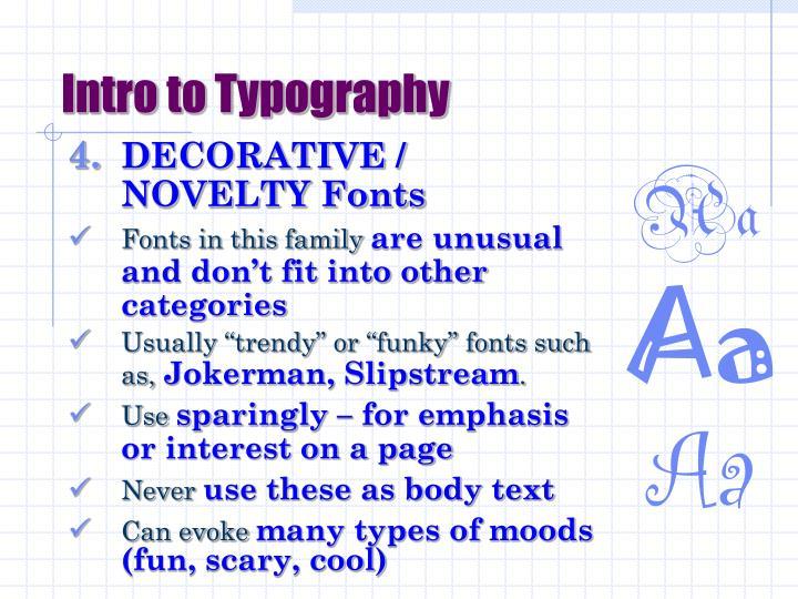 Intro to Typography