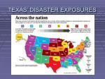 texas disaster exposures