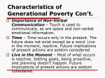 characteristics of generational poverty con t3