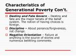characteristics of generational poverty con t4