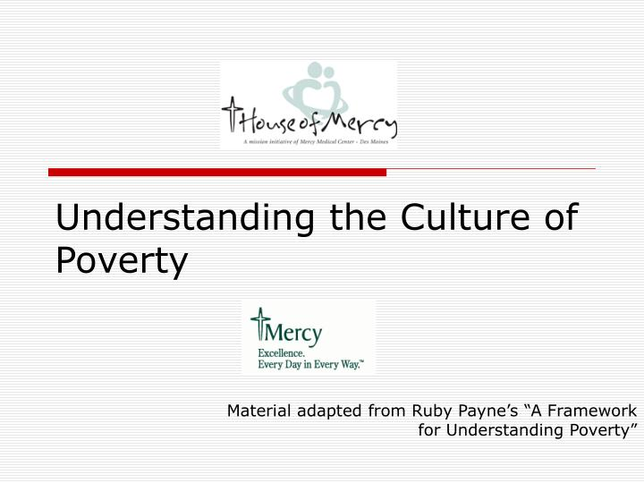 understanding the culture of poverty n.