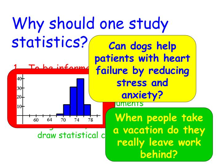 Why should one study statistics