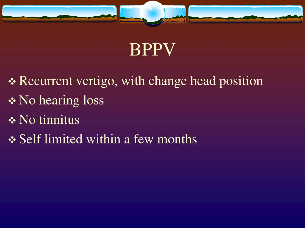 PPT - Dizziness, Disequilibrium and Vertigo PowerPoint
