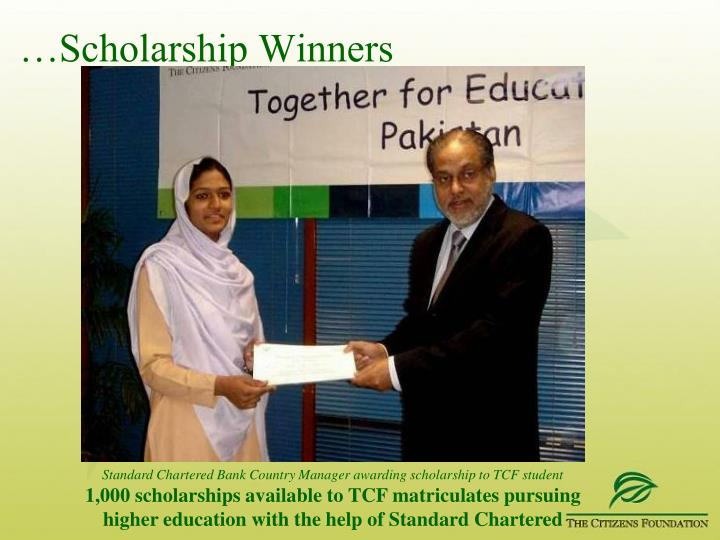 …Scholarship Winners