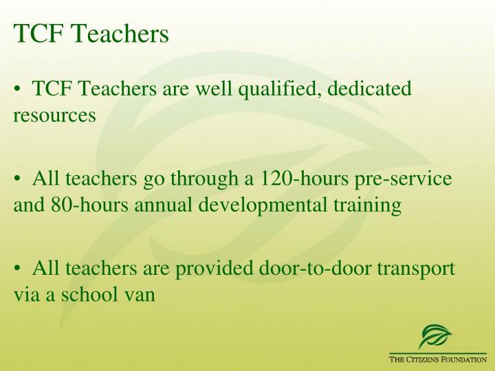TCF Teachers