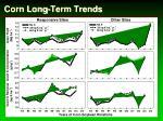 corn long term trends