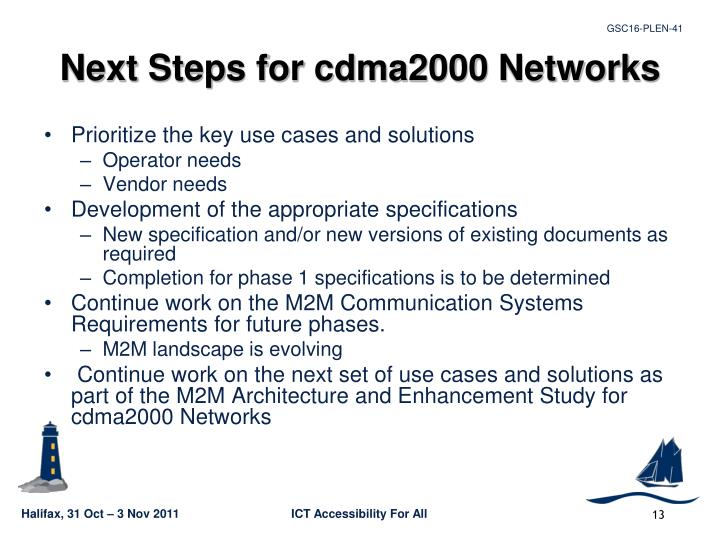 Next Steps for cdma2000 Networks