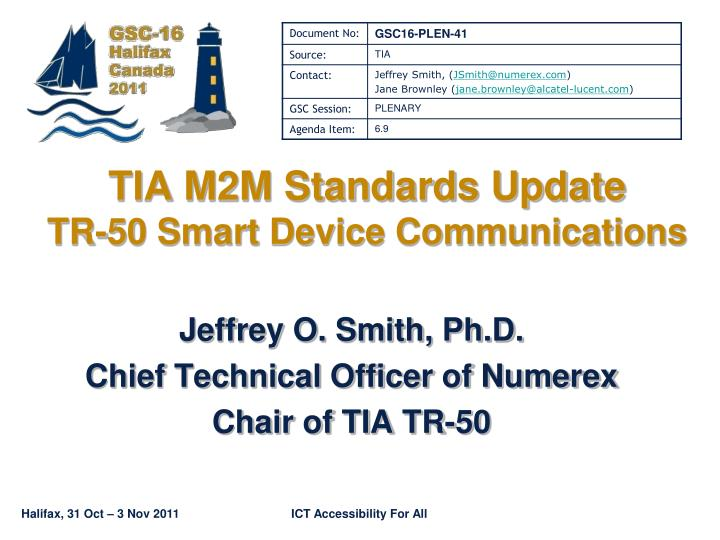 Tia m2m standards update tr 50 smart device communications
