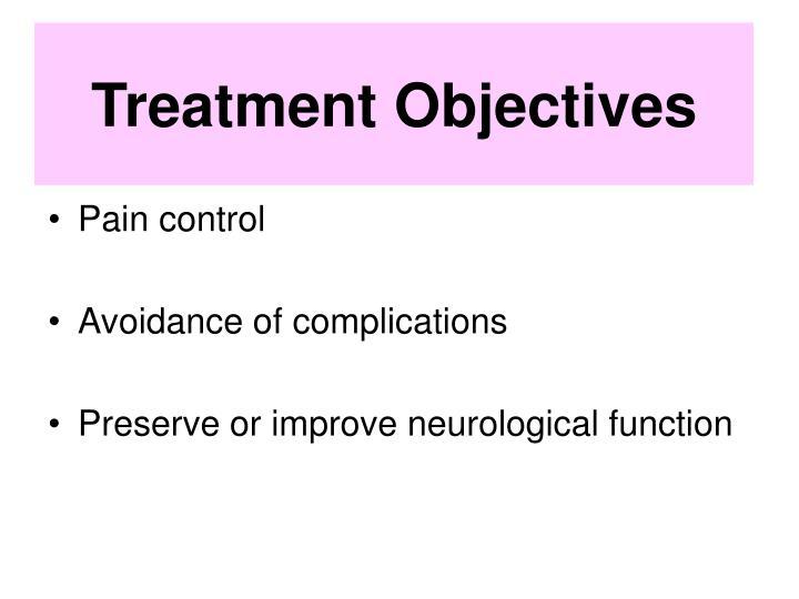 Treatment Objectives