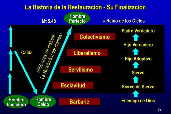 La Historia de la Restauración - Su Finalización