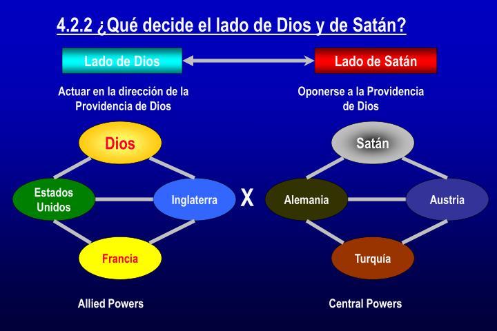 4.2.2 ¿Qué decide el lado de Dios y de Satán?