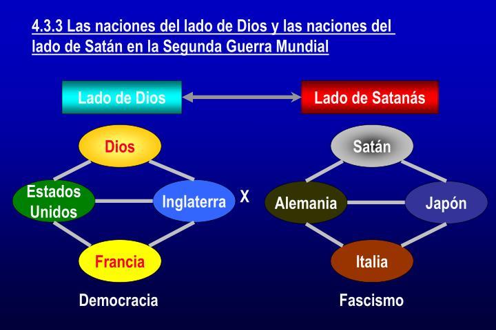 4.3.3 Las naciones del lado de Dios y las naciones del