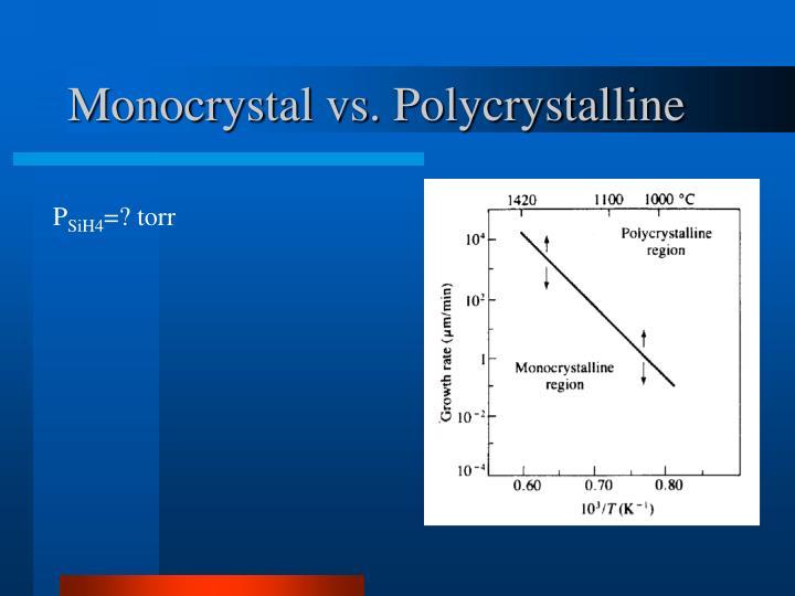 Monocrystal vs. Polycrystalline