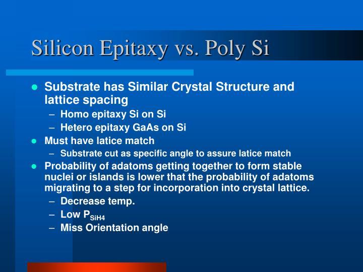 Silicon Epitaxy vs. Poly Si