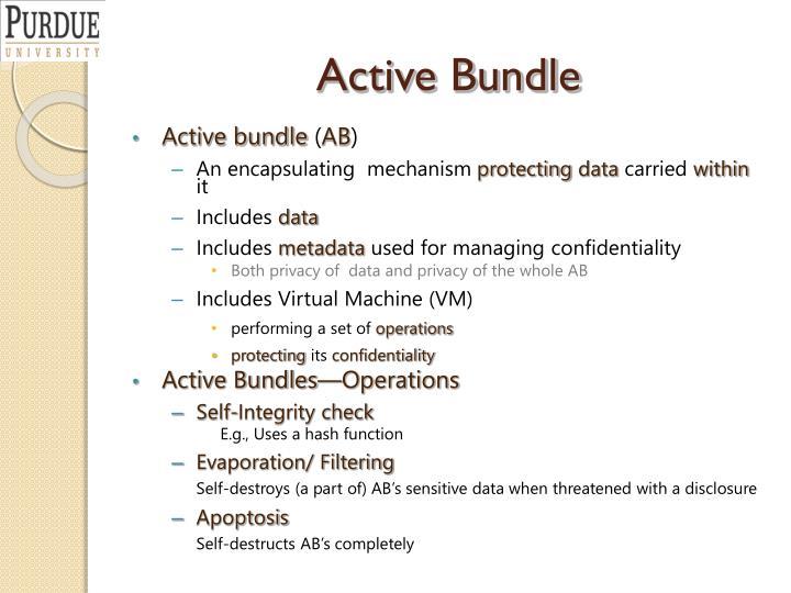 Active Bundle