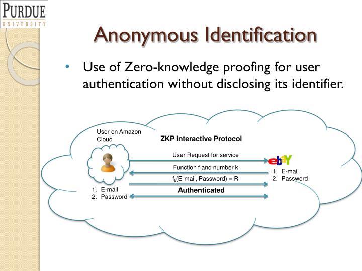 Anonymous Identification
