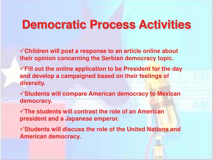 Democratic Process Activities