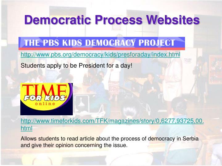Democratic Process Websites