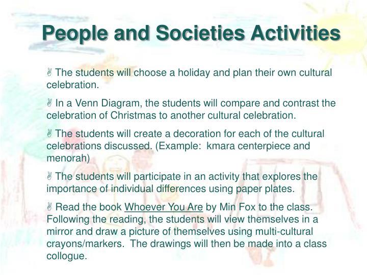 People and Societies Activities