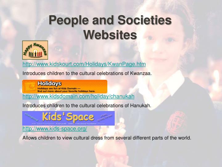 People and Societies Websites