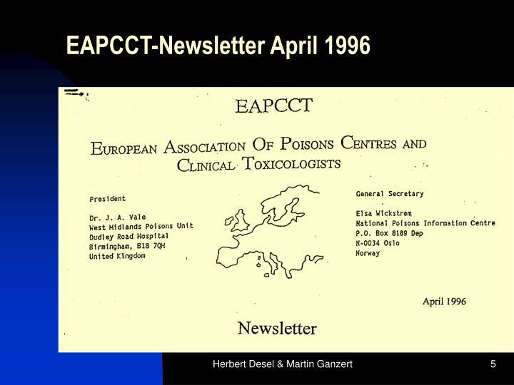 EAPCCT-Newsletter April 1996