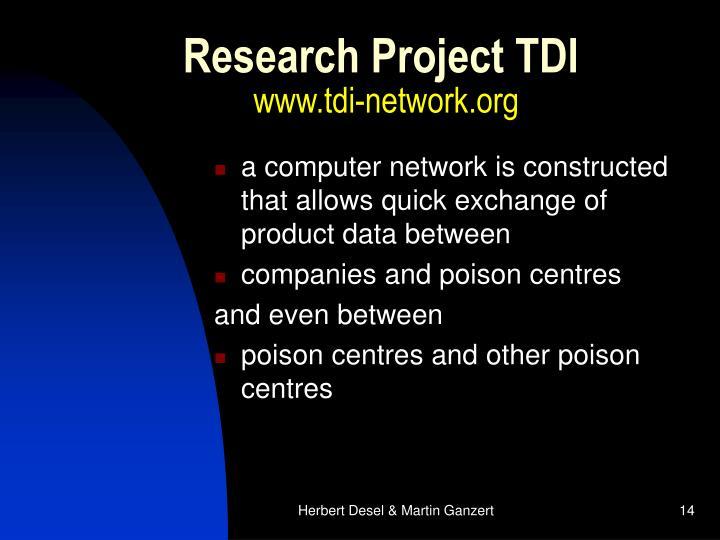 Research Project TDI