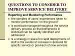 questions to consider to improve service delivery2