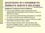 questions to consider to improve service delivery3