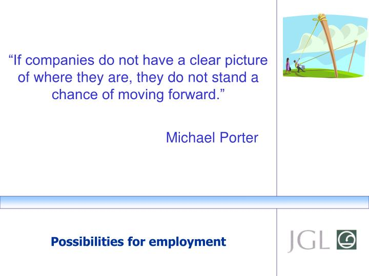 """If companies do not have a clear picture of where they are, they do not stand a chance of moving forward."""